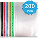 A4 punched pockets strong,A4 punched pockets 200,Glass clear punched pockets,for School Office...