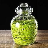 Zsail Traditionelles Glas Kimchi Fermentationsglas, Grosse Kapazität Vorratsdosen Glas,...