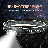 LED USB wiederaufladbarer Scheinwerfer Fisch hell wasserdicht Super hell Stirnlampe Scheinwerfer...