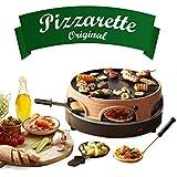 Emerio Pizzaofen, PIZZARETTE das Original, 3 in 1 Pizza-Raclette-Grill, patentiertes Design, für...