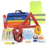 QLOUNI 12-in-1 Auto Notfall-Werkzeugset Pannenhilfe Set Auto Sicherheit Kit mit Aufbewahrungstasche...