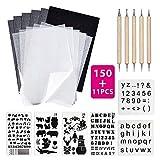 150 Blatt A4 Transferpapier Set Transparentpapier Kohlepapier Schwarzem Carbonhaltige...
