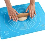Backmatte Baking Mat Nonstick Rutschfeste Backunterlage mit Messungen Fondant Teig Gebäck aus...
