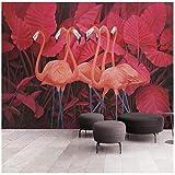 3D Wandbild Tapete Nordic Wind Flamingo Poster Tapete Wohnzimmer Schlafzimmer Kinderzimmer...