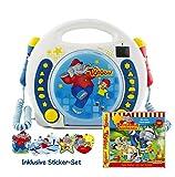 X4-TECH Kinder CD-Player Bobby Joey Benjamin Blümchen USB/SD