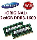 Samsung 8GB Dual Channel Kit 2 x 4 GB 204 pin DDR3-1600 SO-DIMM (1600Mhz, PC3-12800S, CL11)
