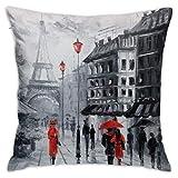 Marcia Abbot(t) Paris Kissenbezug, dekorativ, 45,7 x 45,7 cm, für den täglichen Sofakissenbezug,...