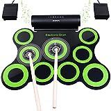 Elektronisches Schlagzeug, Drum Set, BONROB Roll Up Schlagzeug Midi Drum Kit mit Kopfhrer und...