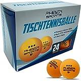 PHIBER-SPORTS Premium Tischtennisblle 3 Stern [24 Stck] Orange  Perfekte Spieleigenschaften - Ideal...