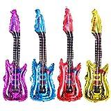 FASHION AMA Partydekorationen aufblasbare Gitarre Musikinstrumente Zubehör für Kinder Erwachsene...