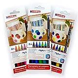 Porzellan-Pinselstift Edding 4200, 3 x 6er-Set, 1-4 mm, Family-, Warm-, Cool-Colour Set