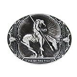 dailymall Vintage Indische Gürtelschnalle Western Knight Antik Metall Große Ovale