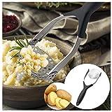 99AMZ Kartoffelpresse, Mit Rund-Lochung, Edelstahl Kartoffel Stampfer Babynahrung Sieb Drücken Sieb...
