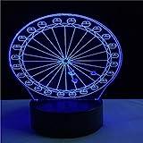 Touch Control Und Fernbedienung 3D Led 16 Farben Tischlampe Neuheit Licht Die Ferris Illusion...