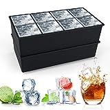 Eiswürfelform Silikon XXL, HOMMINI 8-Fach Silikon Eiswuerfel Form Ice Cube Tray,...