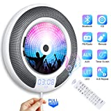 Gueray Tragbarer CD Player Wandmontage mit Bluetooth und HiFi Lautsprecher LED-Display die...