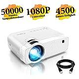 Mini Beamer, ELEPHAS 4500 Lumen Tragbarer LED Projektor, untersttzt 1080P, Max 180 Display, 50000...