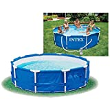 Intex Metal Frame Pool - Aufstellpool -  366 x 76 cm - Mit Filteranlage - 12V