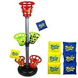 Toysery Beanbag Wurfspiel – hervorragendes Spiel für drinnen und draußen – verstellbare Höhe,...