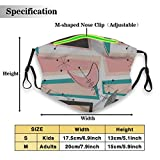 Environmentally friendly masks for protection against dust Boomerangs Pink And Teal Unisex outdoor...