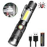 Taschenlampe LED Magnet USB Wiederaufladbar, für Camping im Freien Notfall Magnet USB Taschenlampen...