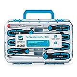 SolidWork Schraubendreher Set 8tlg in robustem Werkzeugkoffer  Magnetischer Schraubenzieher Satz aus...