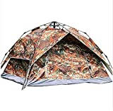 TINSAHW Tragbare Strandzelt, Family Camping Zelte 2-4 Person, Backpacking Zelt Double Layer mit Easy...