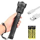 ShineTool Starkes Licht LED Taschenlampen, 3500LM XHP70 Hoch Leistungs Wasserdichte USB...