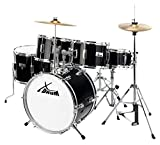 XDrum Junior Pro Kinder Schlagzeug Drumset (geeignet von 5-9 Jahren, mit viel Zubehr, Schule, DVD)...