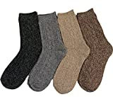 AATMart Damen Fashion Weiche Wollmischung Crew Socken Größe 39-43 (HR1613) - mehrfarbig - 6-9(US)