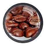 Schublade zieht Griff Kaffeebohnen Cafe gerösteten koffeinbraunen Drucke für Hauptdekorationen...