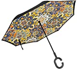Großer, gerader Umkehrregenschirm, umgedrehter Regenschirm, 2-lagig, klappbar, Winddicht,...