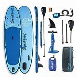 AQUAPLANET ALLROUND 10 | SUP Aufblasbares Stand Up Paddel Brett Surfbrett Paket | Verstellbares...