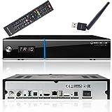 GigaBlue UHD Trio 4K Box SAT-Receiver DVB-S2x DVB-C2 DVB-T2 Tuner mit Festplatte inkl. Babotech WLAN...