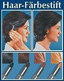 WENKO 3512012500 Haarfärbestift Schwarz - einfache Anwendung, Grauabdeckung, Chemie, 2 x 7.4 x 2...