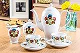 KAFFEESERVICE 27 tlg für 12 Personen Keramik Kaffeegeschirr Kaffeegedeck Weiß