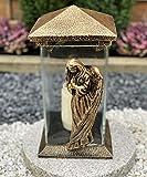 Garten Paradies Handmade Grablampe Grablicht Grabdekoration Grabschmuck Kerze incl. Grabkerze