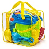 Komplettes Strand Spielzeug Set mit wiederverschliebarer Hlle/Box, Assorted Colours