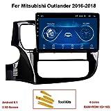 KEYI Autoradio Auto GPS Navigation Fahrzeug Head Unit für Mitsubishi Outlander 2016-2018 Android...