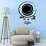 Modeganqingg Kaffee schwarz Kunststoff Applique Wandaufkleber Vinyl Aufkleber dekorative Künstler...