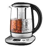 Willsence Wasserkocher Glas, Teekocher (2200W, 1.7 Liter, 6 Programmierbare Temperaturregelung mit...