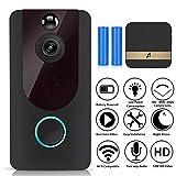 720p HD Drahtlose Türklingel Funk, Smart Video Doorbell Wireless WiFi mit PIR Bewegungsmelder,...