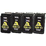 Yellow Yeti Ersatz für Canon PG-545XL CL-546XL Druckerpatronen (2 Schwarz, 2 Farbe) kompatibel für...