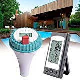 Reeseiy Pool Thermometer Wasser Thermometer: Digitales Teich Und Poolthermometer Mit Chic LCD Funk...