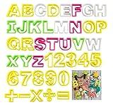 ilauke Fondant Buchstaben Ausstecher gro Ausstechform Modellierwerkzeug farbig Alphabet Zahlen...