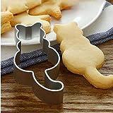 Cat geformte Aluminium-Form Sugarcraft Kuchen-Pltzchen-Gebck-Backen-Scherblock-Form Ausstecher Katze