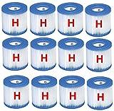 Intex 12x Filter H Kartuschen Ersatzfilter Filterkartuschen fr Pumpe 29007