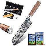 adelmayer Profi Kiritsuke Damast Küchenmesser 18cm extrem scharfe Klinge aus japanischem...