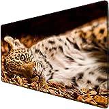 mauspad groß gaming Eleganter Leopard, der auf der übergroßen Schreibtischmatte 900x400 des...