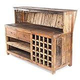 Vintage Design BARSCHRANK PUREWOOD | 150x110cm(BxH) | Shabby Chick Minibar, Bar Theke aus Altholz |...